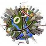 modelo do globo — Foto Stock