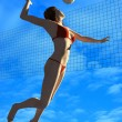Volleyball. — Stock Photo