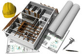 Modell av ett hus — Stockfoto