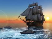 Barca a vela in mare. — Foto Stock