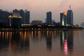 Nattbild av guanghzou stad — Stockfoto