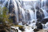 Waterfall landscape of China Jiuzhaigou — Stock Photo