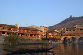 China river boat landscape — Stock Photo