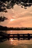 Sunset landscape of China West Lake — Stock Photo