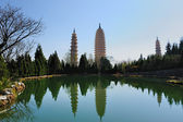 Chinese Buddhist pagodas — Stock Photo