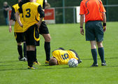 Soccer injury — Stock Photo