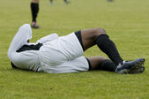 Soccer injured — Stock Photo