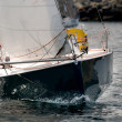 Yacht race at regatta — Stockfoto