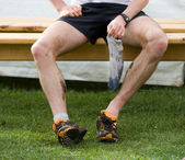 Runner after foot race — Stock Photo