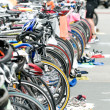 Stock Photo: Bicycle on stand at triathlon