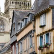 Retro house in quimper brittany — Stock Photo