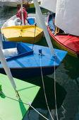 Caravelle Schiff in einem Hafen — Stockfoto