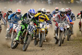 Motocross competition — Stock Photo