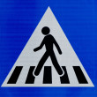 Road sign man walking — Stock Photo
