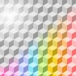 Abstract vector rainbow background. Eps 10 — Stock Vector