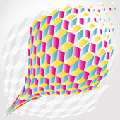 Abstract color hexagon background — Stock Vector