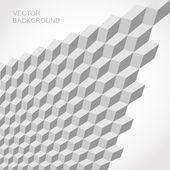 Modello di vettore senza soluzione di continuità grigio 3d isometrica cubo — Vettoriale Stock