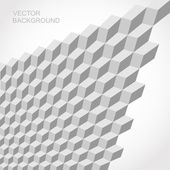 Modelo cubo isométrica 3d vector transparente gris — Vector de stock