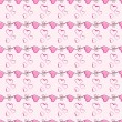 Pink heart seamless pattern vector texture. — ストックベクタ