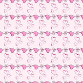 Pink heart seamless pattern vector texture. — Stock Vector