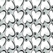 Retro black and white seamless heart pattern — Stock Vector #6048173