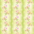 Royalty-Free Stock Vector Image: Flower heart stripe seamless pattern
