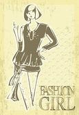 Piękne kobiety modne na tło. — Wektor stockowy