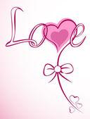 Vector card of love flower heart. — Stock Vector