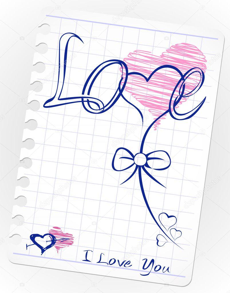Рисунки для новичков любовь