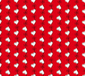 Vector red seamless pattern with hearts — Stock Vector