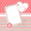 Scrap template with blank space for your photos or text — 图库矢量图片