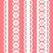 Cute straight seamless lace set - Stock Vector