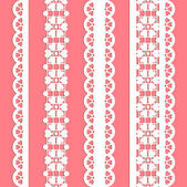 Cute straight seamless lace set — Stock Vector