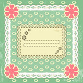 Scrap vintage frame on grange background — Stock Vector
