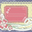 Royalty-Free Stock Vector Image: Vintage flower Frame Design For Greeting Card