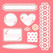 Cute lace frames collection — Vector de stock