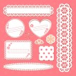 Cute lace frames collection — Stockvectorbeeld