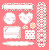 Cute lace frames collection — Stock Vector