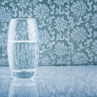 Glass filled with fresh water — Stock Photo #6095037