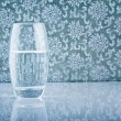 Glass filled with fresh water — Stock Photo