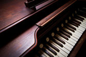 A close up of a antique organ — Stock Photo