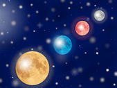 Parade of planets — Stock Photo