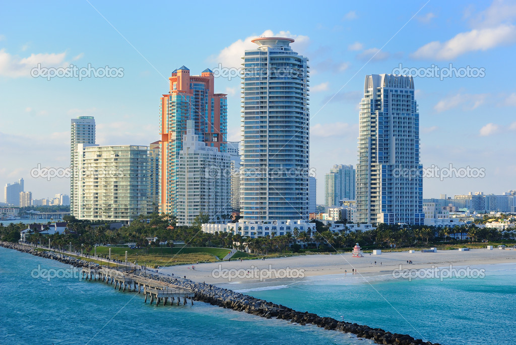 Skyline of the city of Miami, Florida. — Stock Photo #5533137