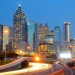 Skyline of Downtown, Atlanta Georgia — Stock Photo