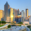 Skyline of Downtown, Atlanta Georgia - 图库照片
