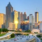 Skyline der Innenstadt von Atlanta, Georgia — Stockfoto