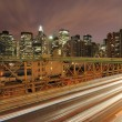 Cars on Brooklyn Bridge — Stock Photo