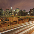 Cars on Brooklyn Bridge - Photo