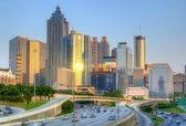 Skyline of Downtown, Atlanta Georgia — 图库照片