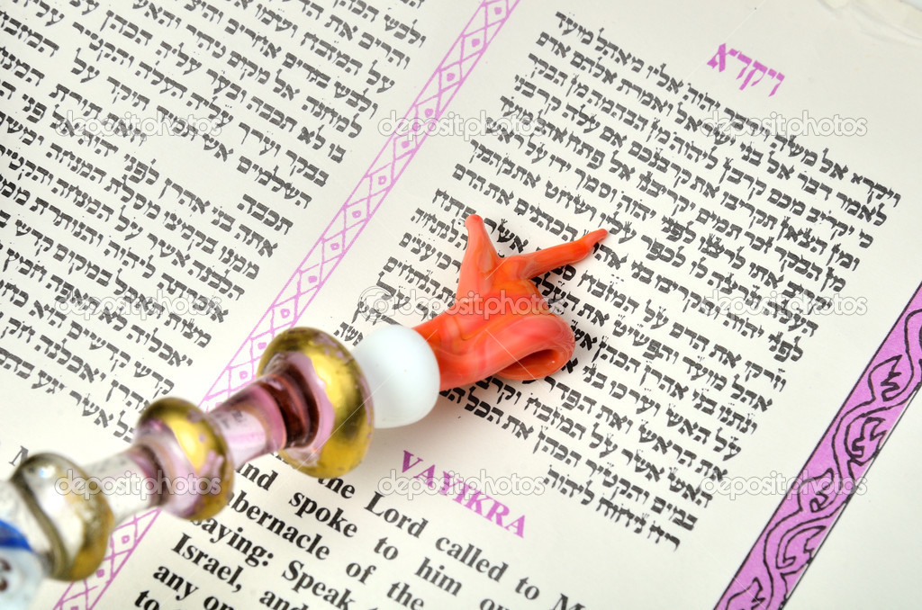 A Yad pointing at a passage from the Torah. — Stock Photo #5764687